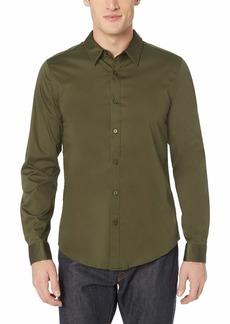 GUESS Men's Long Sleeve Luxe Stretch Shirt  M