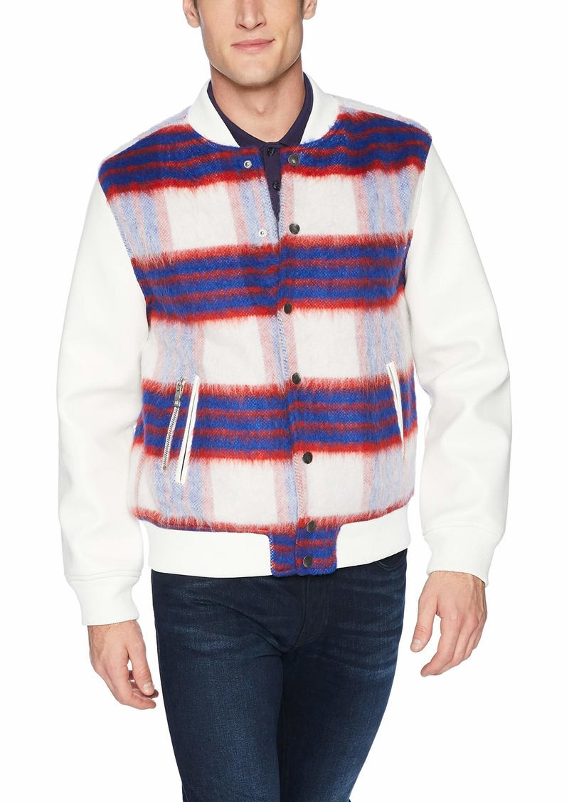 GUESS Men's Long Sleeve Marmont Check Jacket  M
