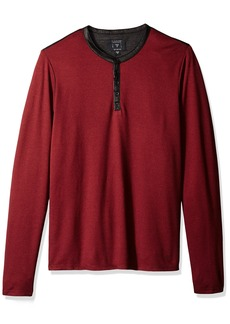 GUESS Men's Long Sleeve Mason Jacquard Henley  XL