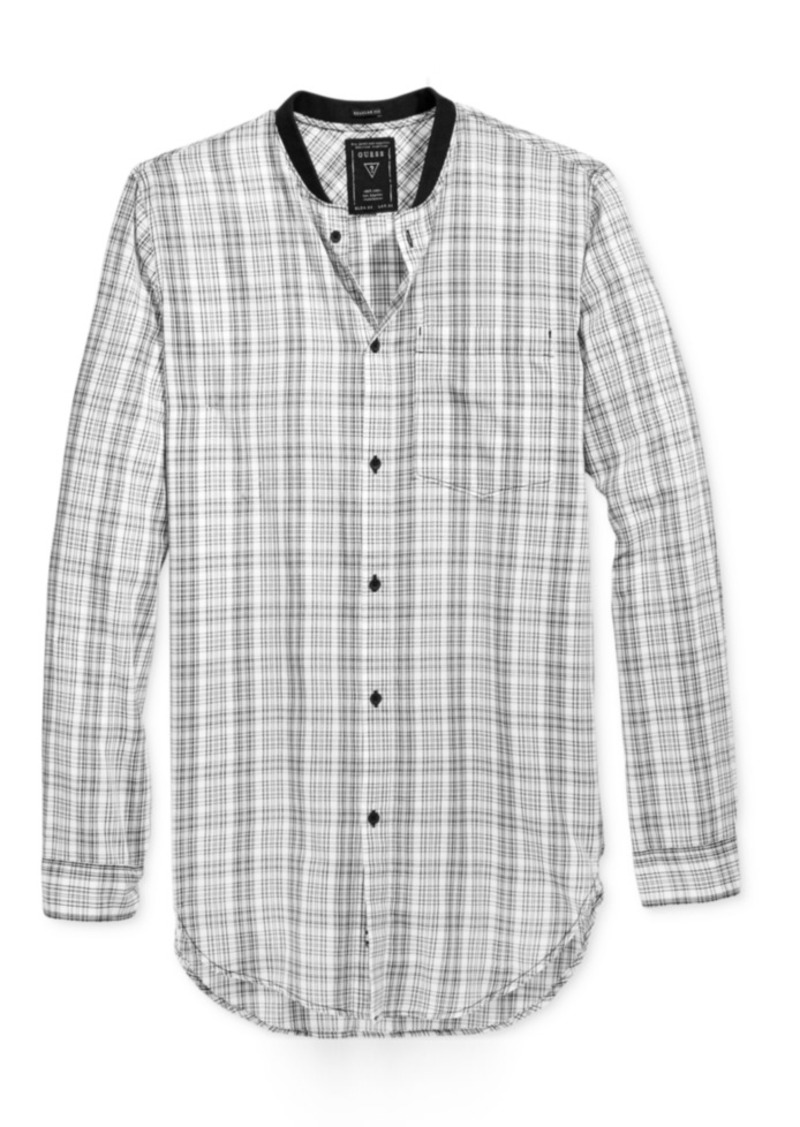 Guess Men's Long-Sleeve Nash Plaid Shirt