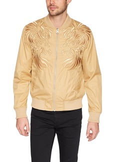Guess Men's Long Sleeve Nylon Eagle Bomber  S