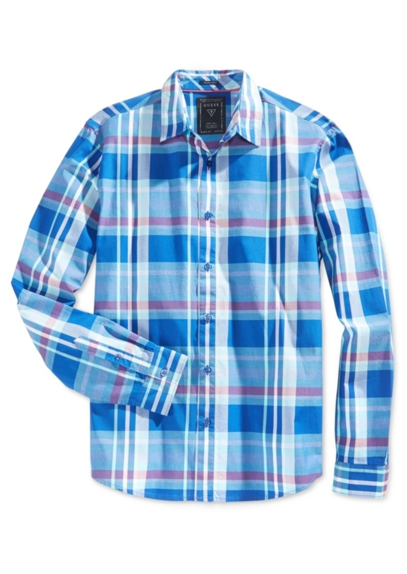 Guess Men's Long-Sleeve Plaid Shirt