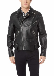 Guess Men's Long Sleeve Rising Tiger Moto Jacket  M