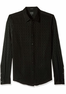 GUESS Men's Long Sleeve Rock It Check Shirt  M