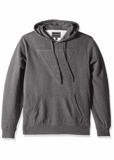 GUESS Men's Long Sleeve Roy Pop Over Logo Hoodie  XL