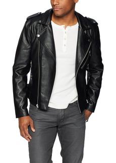 GUESS Men's Long Sleeve Snake Tassel Moto Jacket  L