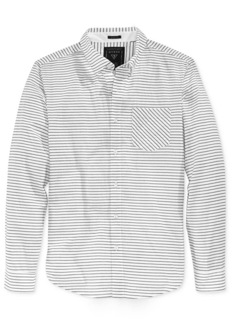 Guess Men's Long-Sleeve Stripe Shirt