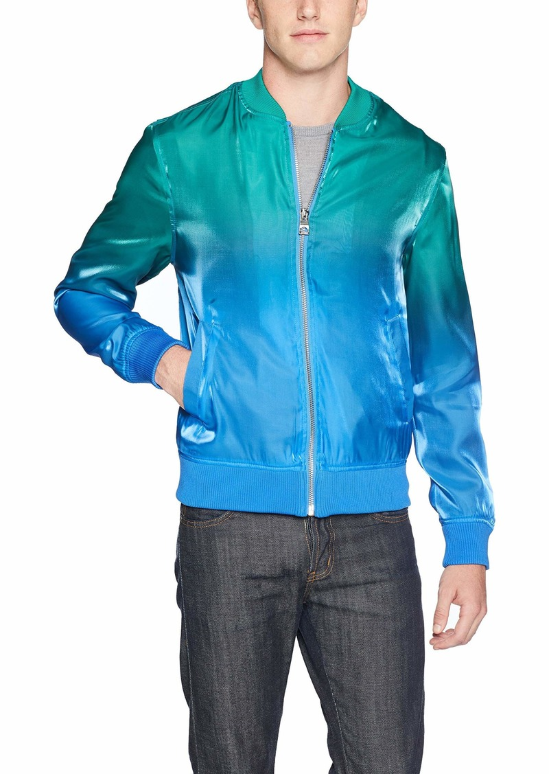 Guess Men's Long Sleeve Wave Ombre Print Bomber  XXL