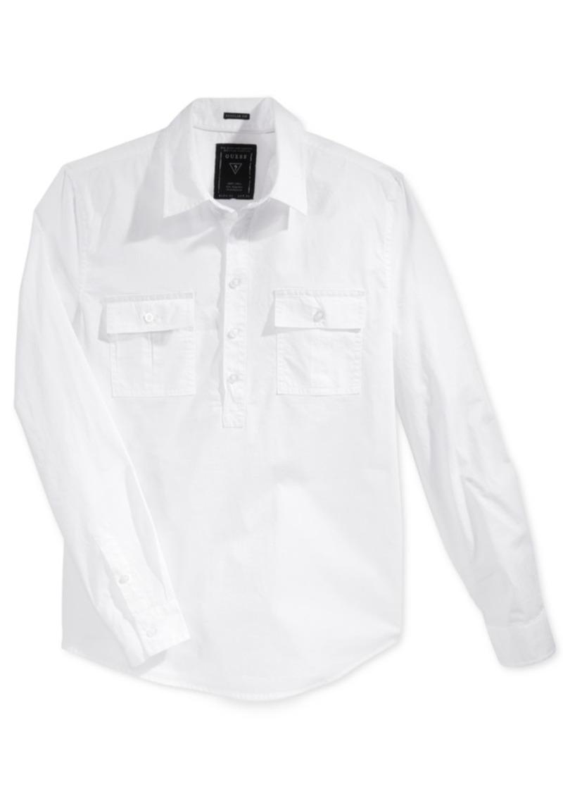 Guess Men's Long-Sleeve White Shirt