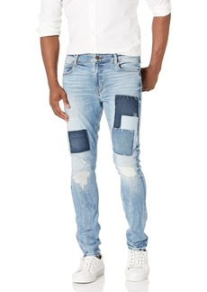 GUESS Men's Low Rise Patchwork Skinny Fit Jeans  W X 32L