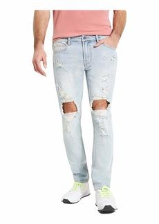 GUESS Men's Low Rise Skinny Fit Ripped Jean  34W X 32L