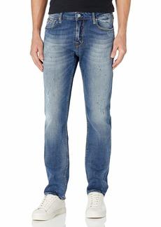 GUESS Men's Low Rise Slim Fit Straight Leg Jean  33W X 32L