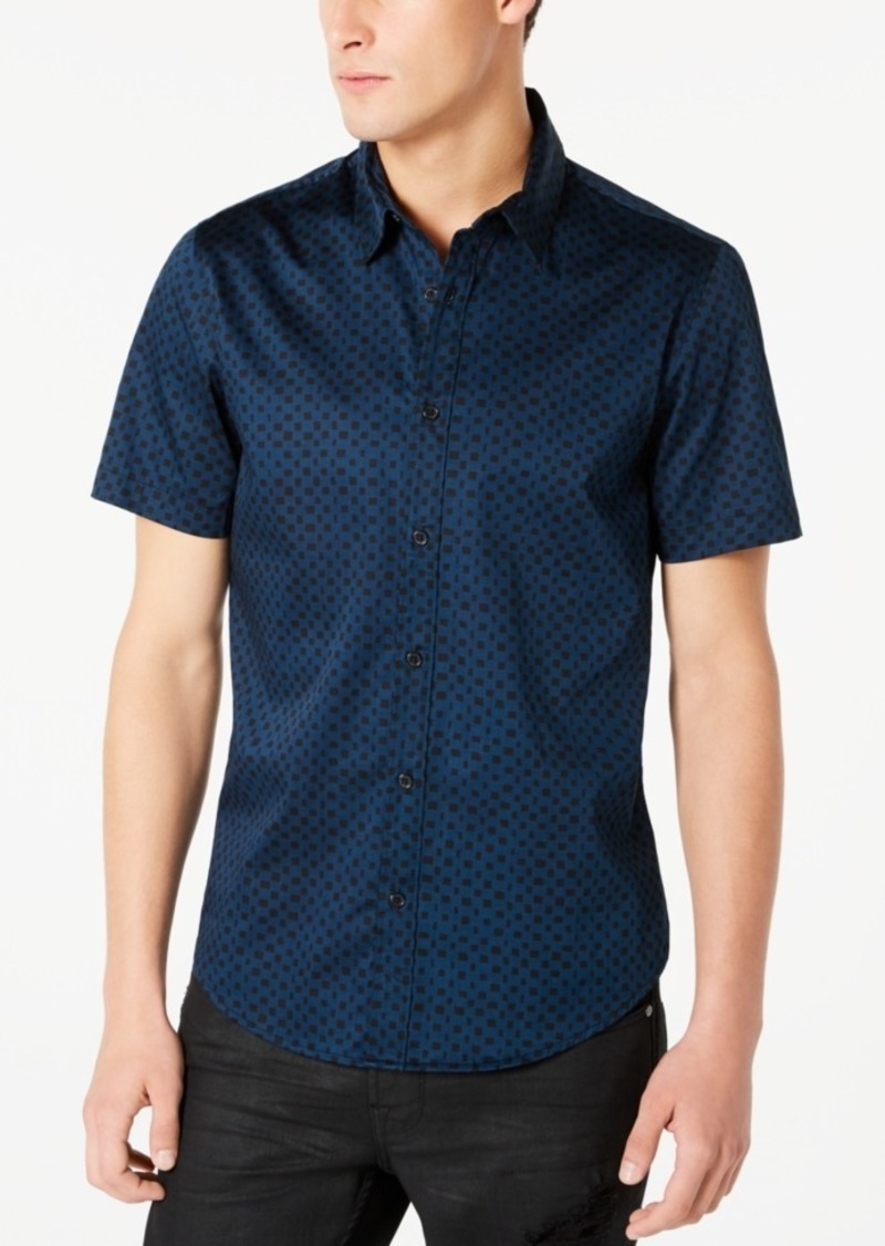 Guess Men's Luxe Checkered Shirt