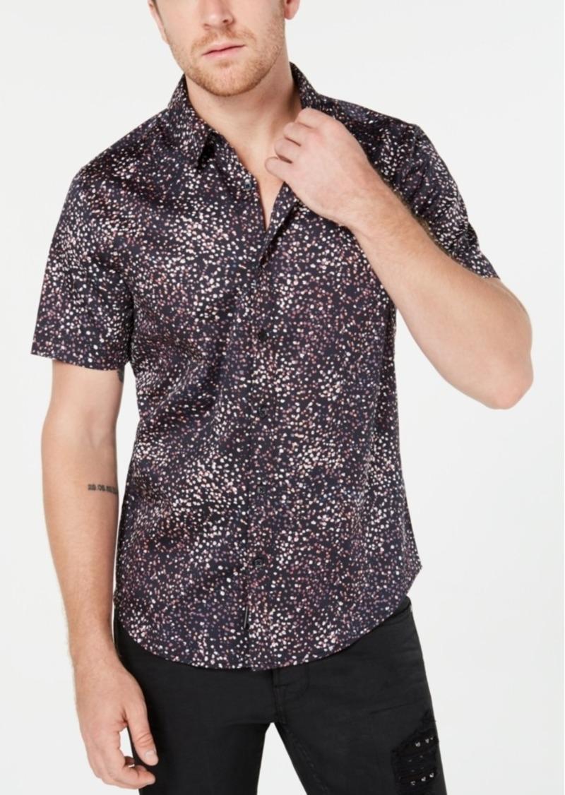 Guess Men's Luxe Confetti Print Shirt