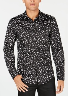 Guess Mens Luxe Dot-Print Shirt