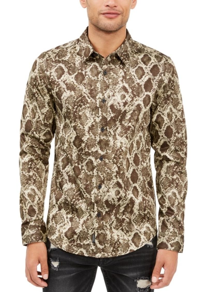 Guess Men's Luxe Viper Print Shirt
