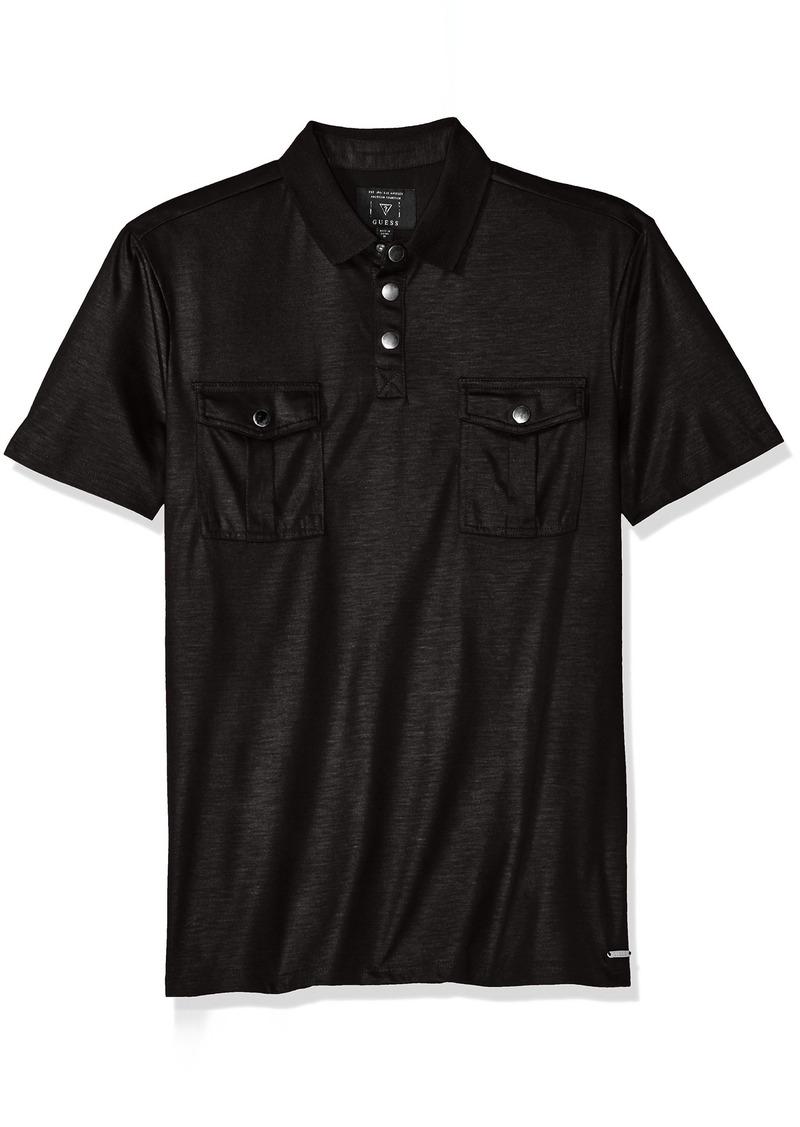 Guess Guess Men 39 S Mason Military Polo Shirt M R Casual