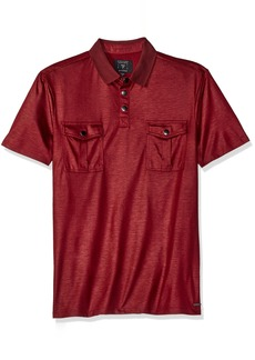 GUESS Men's Mason Military Polo Shirt