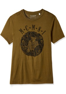 GUESS Men's MCM Emblem Crew Neck T-Shirt  L