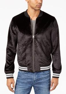 Guess Men's Metallic Bonded Velvet Full-Zip Jacket