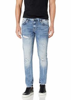 GUESS Men's Mid Rise Slim Fit Skinny Leg Ripped Jean  34W X 32L