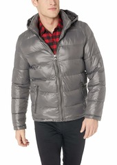 GUESS Men's Mid Weight Puffer Jacket smoke