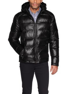 GUESS Men's Midweight Puffer Jacket black M