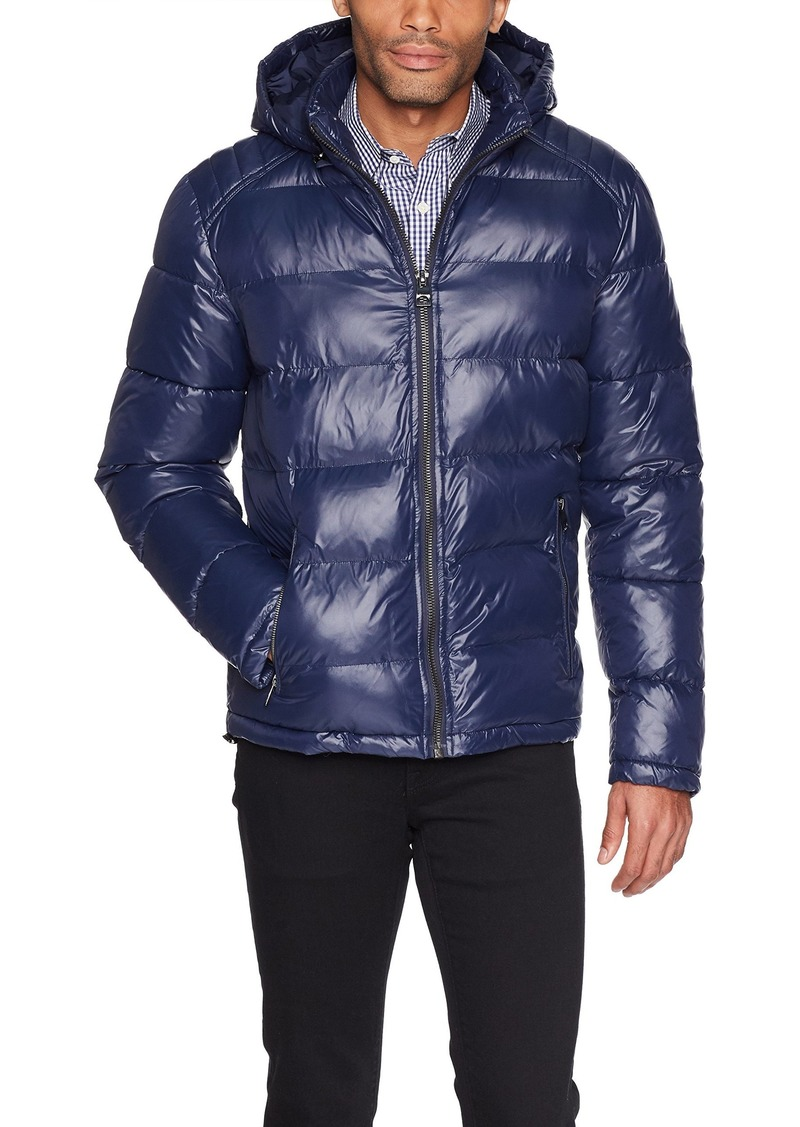 GUESS Men's Midweight Puffer Jacket dark royal blue L