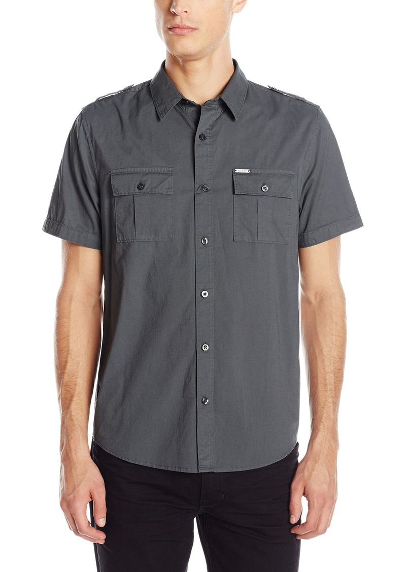GUESS GUESS Men's Military Button Down Shirt XXL | Casual Shirts ...