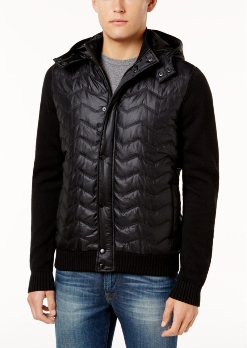b673a5c73deb GUESS Guess Men s Mixed-Media Hooded Puffer Jacket