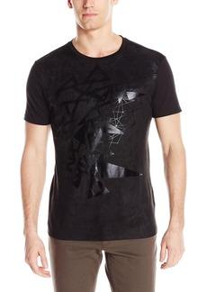 GUESS Men's Monte Faux Suede T-Shirt  XL