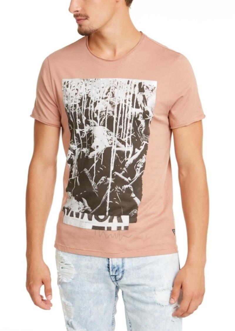 Guess Men's Mosh Pit Paint Drip Graphic T-Shirt