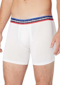 GUESS Men's Multi Stripe Logo Band Cotton Boxer Brief  M