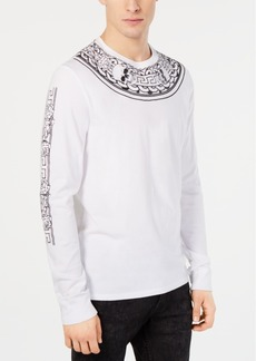 Guess Men's Neck Piece Graphic Shirt