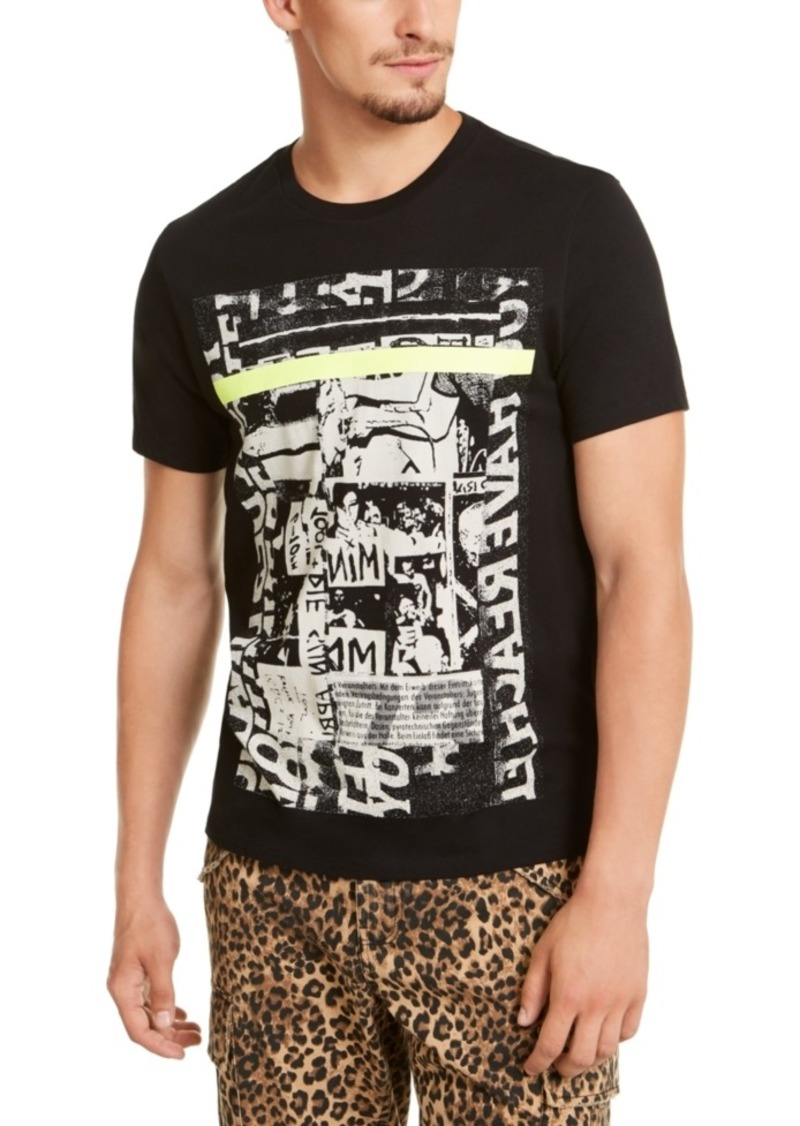 Guess Men's Neon Collage Graphic T-Shirt
