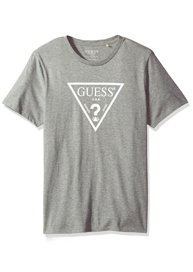 Guess Men S Neon Triangle Logo T Shirt L
