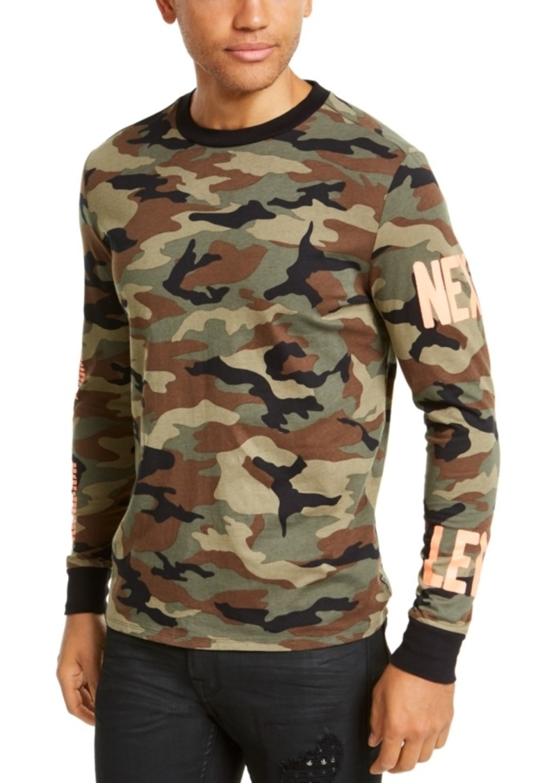 Guess Men's Next Level Camo Sweatshirt