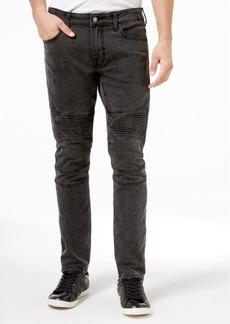 Guess Men's Night Shadow Skinny Fit Moto Stretch Jeans