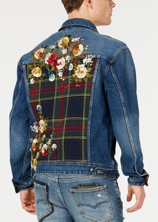 Guess Men's Oversized Embroidered Denim Jacket