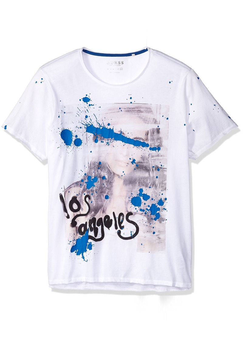 guess guess men 39 s paint splatter t shirt xxl t shirts. Black Bedroom Furniture Sets. Home Design Ideas