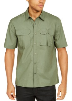Guess Men's Parker Poplin Utility Shirt