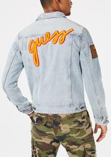 Guess Men's Patch Denim Jacket