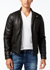 Guess Men's Perforated Faux-Leather Jacket