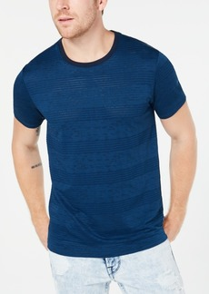 Guess Men's Perforated Striped T-Shirt