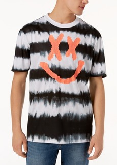 Guess Men's Perforated Tie-Dye T-Shirt