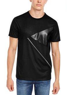 Guess Men's Pieced Zipper T-Shirt