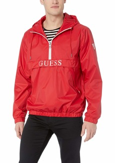 GUESS Men's Popover Windbreaker red Extra Large