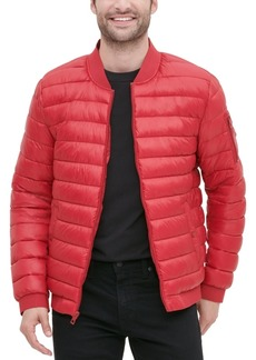Guess Men's Quilted Bomber Jacket