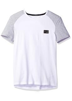 Guess Men's Raglan Crew Neck Logo T-Shirt  M