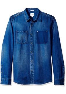 GUESS Men's Regular Fit  Denim Shirt XL